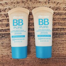 2 Maybelline Dream BB Pure Sheer Tint Makeup 120 Medium 8-in-1 Beauty Balm