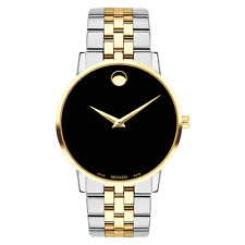 Movado Museum Classic 40mm Black Dial Gold-tone Men's Watch 0607200
