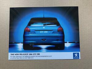 Peugeot 206 GTi 180 Launch Press Photograph