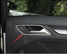 2013-2018 For Audi A3 8V Silver Accessories Inner Handle Bowl cover trim 4pcs