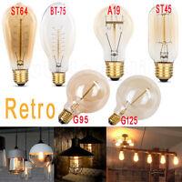 E27 40W Vintage Retro Industrial filamento antiguo Edison bombilla globo