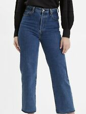 Women Levi's Ribcage Straight Full Length 28 Blue NWT !!
