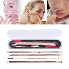4Pcs Blackhead Remover Comedone Acne Pimple Pore Blemish Extractor Needle Tool