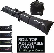 Athletico Ski Bag and Ski Boot Bag Combo - Ski Bags for Air Travel - Unpadded...