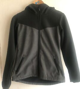 BENCH - Ladies / women's Soft shell Jacket Dark Grey and Black Size M - uk 12