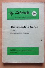 DDR Lehrheft Pflanzenschutz im Garten Verhütung Bekämpfung Pflanzen Krankheiten