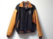 Winnwell Hockey Golden Bear Embroidered Distresed Varsity Jacket Leather Wool XL
