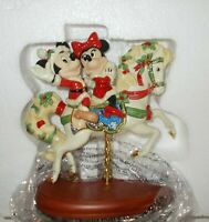 DISNEY LENOX MICKEY & MINNIE'S CHRISTMAS CAROUSEL FIGURINE-  LE - NEW IN BOX