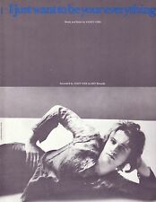 """BRAND NEW MINT ANDY GIBB sheet music """"I JUST WANT TO BE UR"""", BARRY GIBB BEE GEES"""