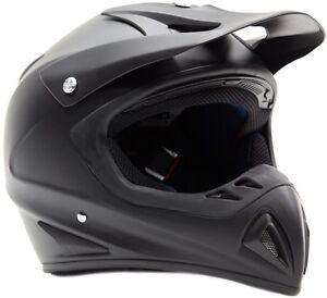 Typhoon Adult Dirt Bike Helmet ATV ORV Motocross Matte Black DOT Motorcycle