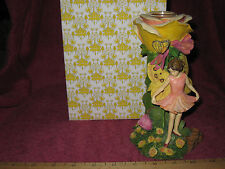 Dancing Fairy with Flowers Fantasy Candle Holder 4176 - New In Box!