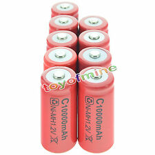 9x C 10000 mAh Ni-MH Colore Rosso batteria ricaricabile Stati Uniti d'America