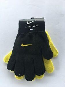 Nike 2-pack Gloves Set Black/high Voltage Size 8/20 Youth