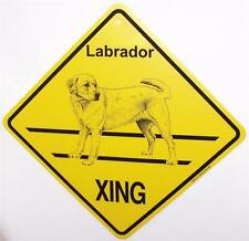 Labrador Retriever Yellow Golden Dog Crossing Xing Sign New Lab Made in USA