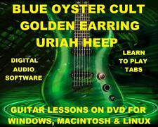 Blue Oyster Cult Guitar TAB Lesson CD 385 TABS 49 BTs Golden Earring Uriah Heap