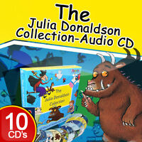 Julia Donaldson Collection 10 Audio CD Book Set Stories&Songs Gruffalo,Childrens