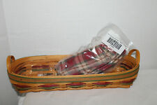 2000 Longaberger Small Harvest Blessings Basket, Protector, Fabric, Card, Bread
