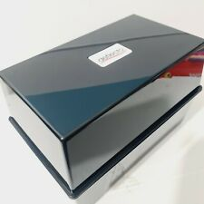 Deflecto Card Index Box Black Glossy 21 x 15 x 12cm Large NEW