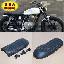 Black HONDA Flat Brat Universal Cafe Racer Seat Vintage Saddle CB350 CB450 CB750