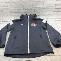 Adidas  Arsenal Hoops Men's Light Grey Windbreaker Jacket size S St Louis Mo