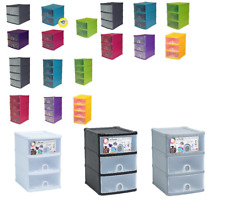 Handy Tower 2,3,4 Drawer Storage Unit Desktop A5 Store System Desk Tidy Drawers