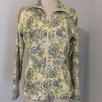Style & Co Sport Women Size M Athletic Sweater Long Sleeve Zip Up Yellow