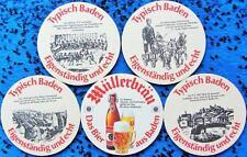 Bierdeckel Serie Sammlung - Schweiz - Müllerbräu Baden Aargau - 4 verschiedene