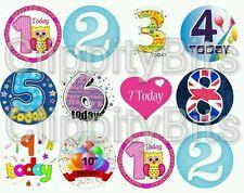 "50 X 1"" pulgadas Pre Cut Bottle Cap Images Feliz Cumpleaños Arcos De Pelo Clips Crafts"