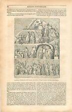 Apothéose d'Homère Bas-Relief Marbre de Pietro-Santi Bartoli GRAVURE PRINT 1849