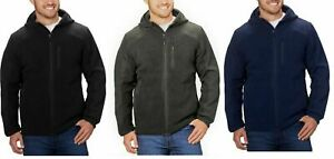 Reebok Men's Soft Shell Fleece Full Zip Hooded Jacket VARIETY Size/Color - J42