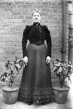 PORTRAIT OF LADY Antique Photographic Glass Negative (1910s Victorian Fashion)