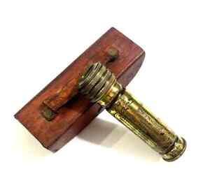 Handmade Nautical Brass Antique Finish Kaleidoscope with Leather Box Gift