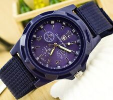 Herrenuhr, Military Quarz Armbanduhr, Survival Bundeswehr, Army-Uhr, Purple