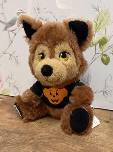 """Build A Bear 7"""" Mini Small Fry Wolf Werewolf In Halloween Pumpkin Bear T-Shirt"""