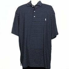 POLO RALPH LAUREN Navy Blue Stripe Cotton Soft Touch Classic Fit Polo Shirt 2XB