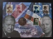 GB 2012 Churchill  Bletchley Park Coin Cover signed by crew HMS Petard