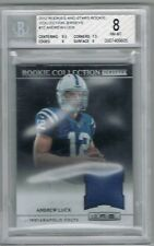 2012 ANDREW LUCK # 12 Rookies and Stars Rookie Collection Jerseys (BGS 8 NM-MT)