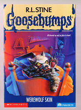 Goosebumps 60 Werewolf Skin R L Stine PB Book Vintage 1997 1st Ed W Card Pullout