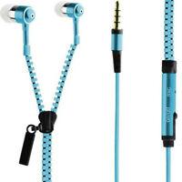 3.5mm In-Ear Zip Zipper Tangle Free Handsfree Headphone Headset Earphone W/Mic x