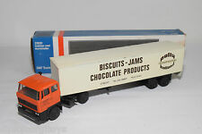 LION CAR 59 DAF 2800 TRUCK WITH TRAILER PALLY HOLLAND BISCUITS NEAR MINT BOXED