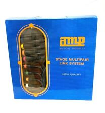 """Stage Multipair Audio Snake 8 XLR male - 8 TRS 1/4"""" mono plug Colored 10 ft"""