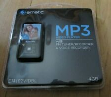 Ematic MP3 Video Player w FM Tuner Voice Recorder BLACK 4GB Storage Electronic