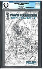 TRANSFORMERS: SPOTLIGHT KUP #NN CGC 9.8 (4/07) IDW retail incentive white pages