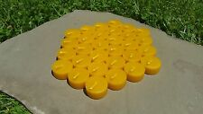 30 - 100% Beeswax Tealight Candle REFILLS, Handmade, All-natural Cotton Wicks
