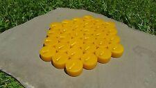 30 - 100% Beeswax Tealight Candle REFILLS, Handmade, All-natural Cotton Wicks