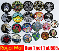 Popular Round Sew on Iron On Patch Badge Transfer