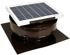 Solar Powered Power Roof Attic Mounted Exhaust Fan Ventilation Vent Cap CFM