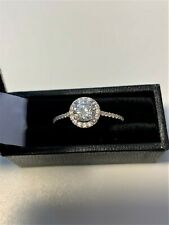 Halo Ring Engagement Ring Yellow Gold Ladies 9 Carat Gold Cluster Ring Size O