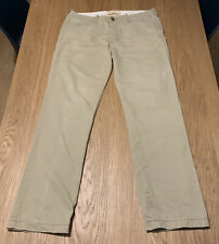 Mens Hollister Beige Button Fly Chinos ~ 34 x 32