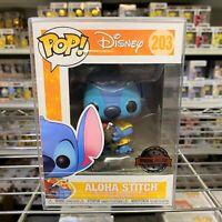 """Funko Pop Disney : Lilo & Stitch : ALOHA STITCH #203 Vinyl Special Edition """"MINT"""